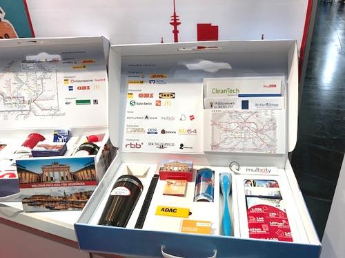 Welcome Koffer gefüllt