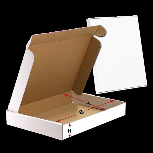 Maxikarton geöffnet mit Maßhinweisen
