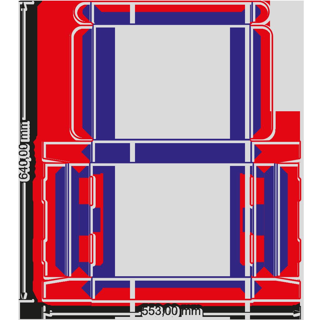 Stanzzeichnung mit offenen Format